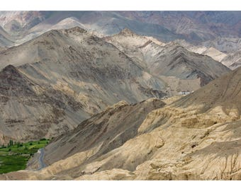 Photograph of the Srinagar-Leh Highway and Moonland landscape, Lamayuru, Ladakh, India - Fine art archival photographic print by Steve Davey
