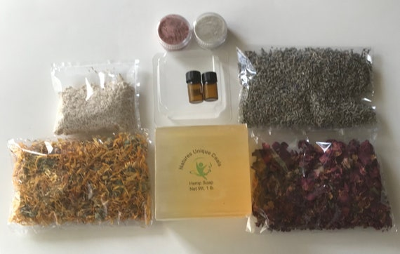 DIY  Hemp Soap Making Kit, Hemp Soap Kit, Learn to make your own soap at home