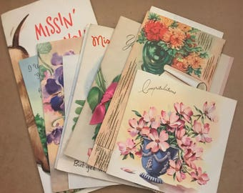 Cheap greeting cards etsy set of 10 vintage greeting cards greeting card card lot vintage card lot random cards vintage cards vintage greeting cards m4hsunfo