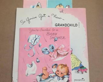 Cheap greeting cards etsy 4 vintage baby greeting cards greeting card card lot vintage card lot random cards vintage cards vintage greeting cards m4hsunfo