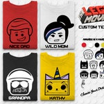 Brick Movie Tshirt - Brick Movie Family Tee - Custom Family Tshirt Design - Matching Family Shirts - Block Heads - Themepark Tshirt - Land
