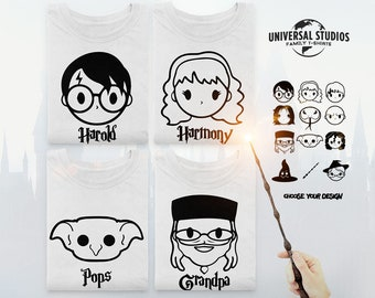002b25a8 Wizard T Shirt - Wizard Character Family Shirts - Wizard Shirt - Custom  Personalized Tshirt Design - Magical Characters - Themepark Tees