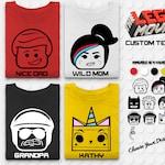 Brick Movie Tshirt - Brick Movie Family Tee - Custom Family Tshirt Design - Matching Family Shirts - Block Heads - Themepark Tshirt - Movie