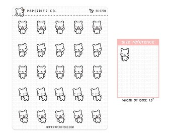 Bear Grocery Shopping Sticker Sheet