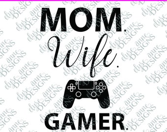 download Gamer For Life Gamer Wife sublimation eat sleep game repeat #gamerwife PNG Video Game Kid Life and Dad Life Messy Bun