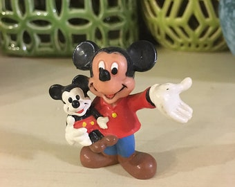 Walt Disney Mickey Mouse Vintage Action Figure Toy