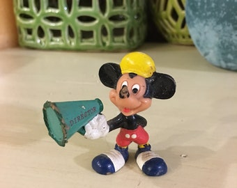 Walt Disney Mickey Mouse Vintage Toy With Megaphone