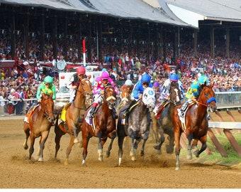 Saratoga race track   Etsy