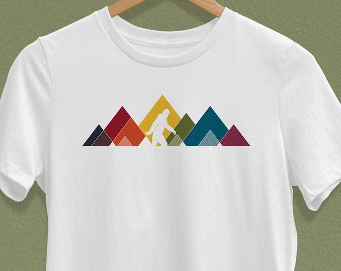 Women's Rainbow Sasquatch T-Shirt (mutliple colors available) - Crew Neck T-shirt