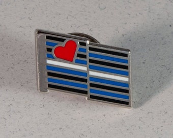 Leather Pride Flag Pin -- Hard Enamel Leather Pride Lapel Pin -- Leather Pride Pins