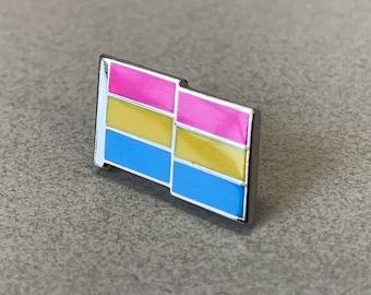 Pansexual Flag Pin -- Hard Enamel Pan Pride Lapel Pin -- Pansexual Pride Flag Pin