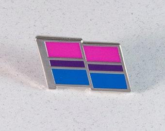 Bi Pride Pin -- Bisexual Pride Flag Pin -- Hard Enamel Bi Pride Lapel Pin