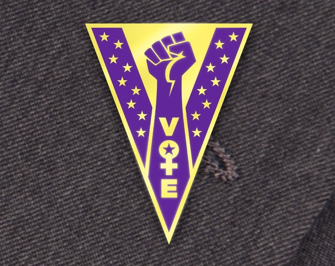 Vote Pin: Women's Suffrage Edition