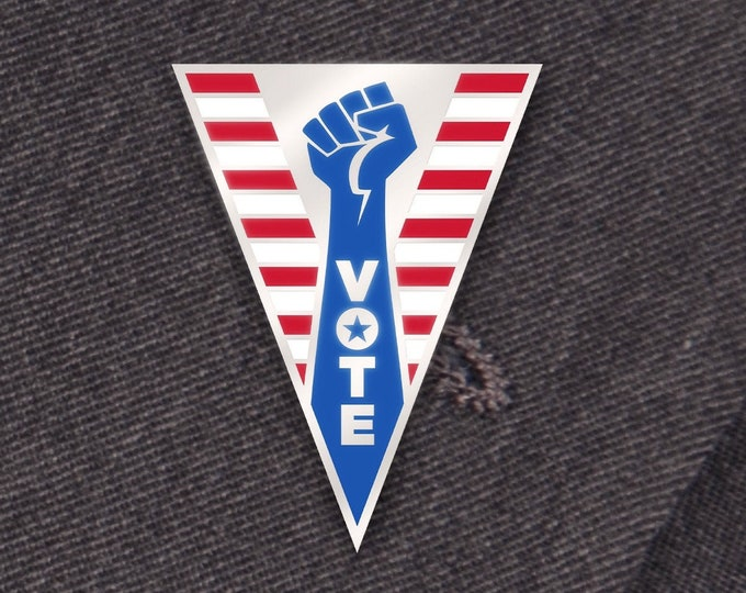 Red, White, & Blue Vote Pin