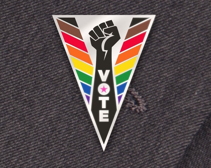 Vote Pin: Inclusive PRIDE Edition