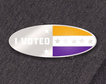 I Voted Pin: Suffragist Edition -- Women's Suffrage Pin -- United States Women's History Hard Enamel Pin -- Feminist Enamel Pin