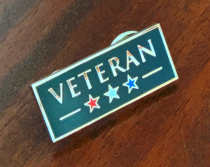 Veteran Pin -- Hard Enamel Pin -- United States Veteran Pin