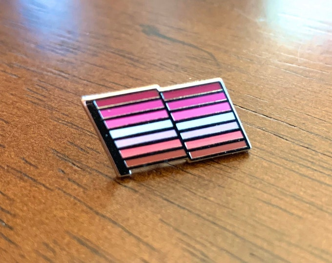 Lesbian Pride Pin -- Lesbian Pride Flag Pin -- Cloisonne Lesbian Pride Lapel Pin