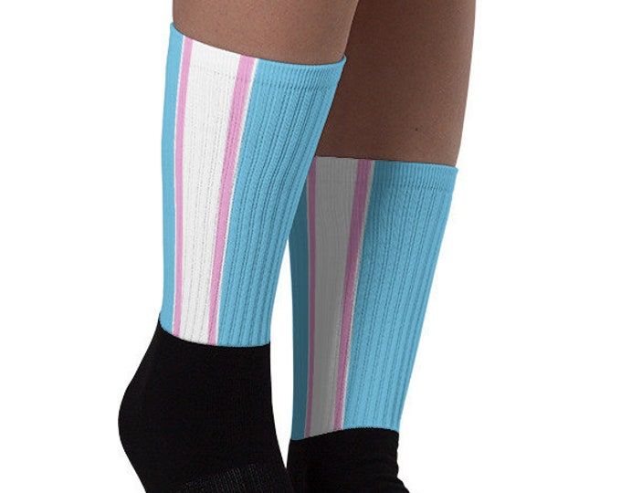 Trans Pride Socks - Racing Stripe Edition