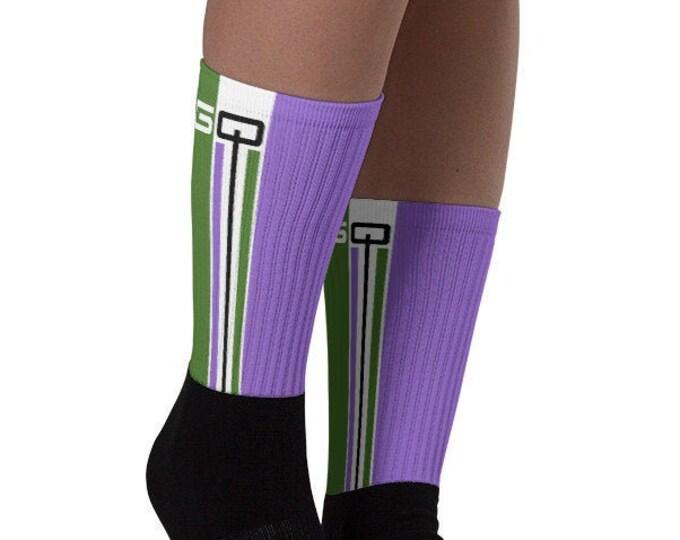Genderqueer Pride Socks - Racing Stripe Edition - Genderqueer Pride Flag