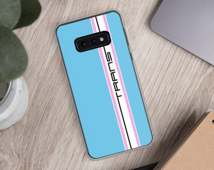 Trans Pride Samsung Case - Racing Stripe Edition - Transgender Pride Flag