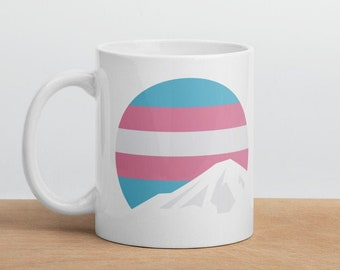 Trans Mountain Mug - Transgender Pride Mug