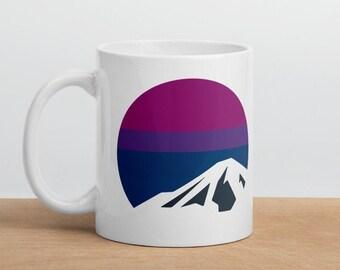 Bi Pride Mountain Mug - Bisexual Pride Flag Mug