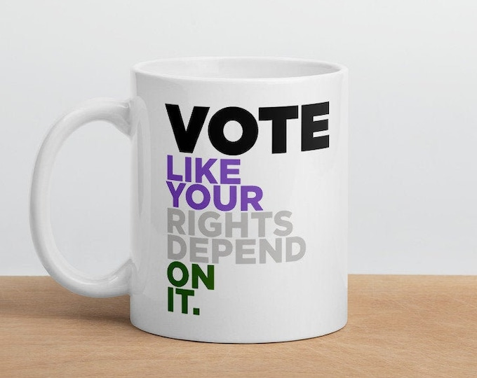 Genderqueer Pride Vote Mug - Vote like your rights depend on it!