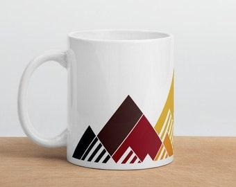 Rainbow Mountain Mug - Philadelphia Pride Flag Mug - Inclusive Pride Flag Mug