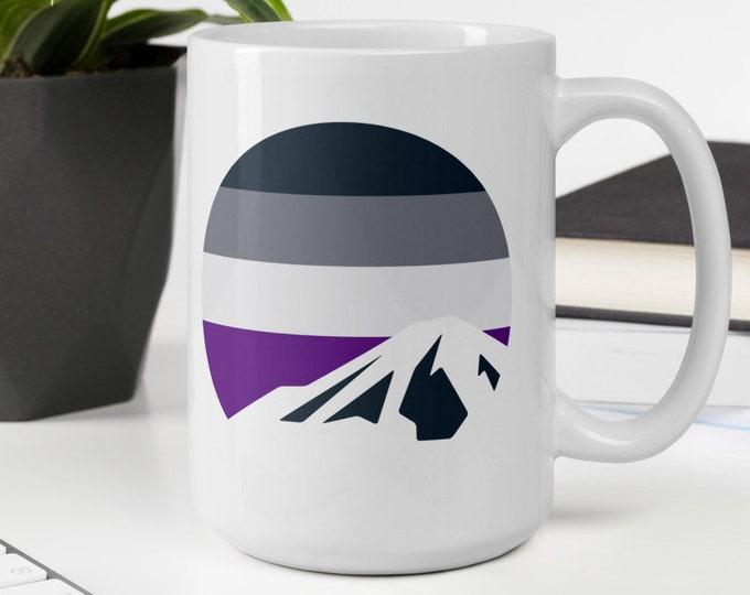 Asexual Pride Mountain Mug