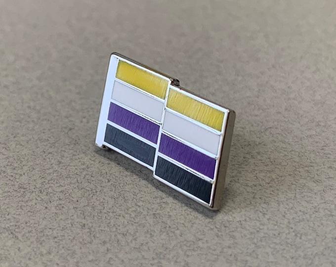 NonBinary Pride Pin -- Hard Enamel NonBinary Lapel Pin -- NonBinary Flag Pin