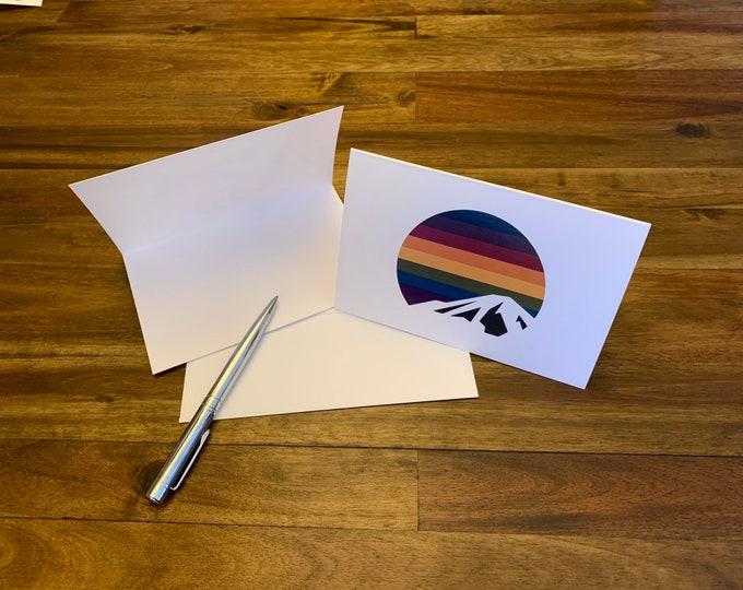 Set of 6 Rainbow Mountain Cards + Envelopes
