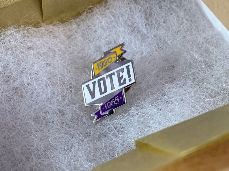 Women's Suffrage Pin  United States Women's History image 0