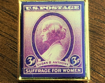 Women's Suffrage Jewelry - Vintage-style Susan B. Anthony Pin - Women's Suffrage Pin