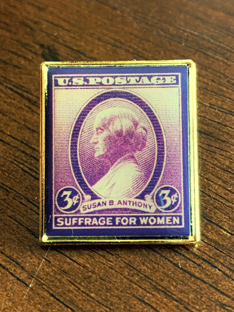Womens Suffrage Jewelry  Vintage-style Susan B. Anthony Pin image 0