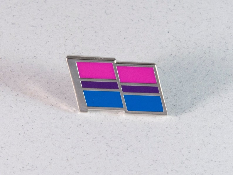 Bi Pride Pin  Bisexual Pride Flag Pin  Hard Enamel Bi image 1