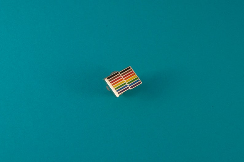 Rainbow Flag Lapel Pin  Philadelphia Pride Flag Pin  image 1