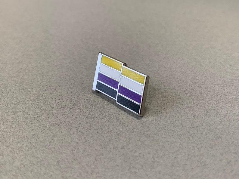 NonBinary Pride Pin  Hard Enamel NonBinary Lapel Pin  image 1