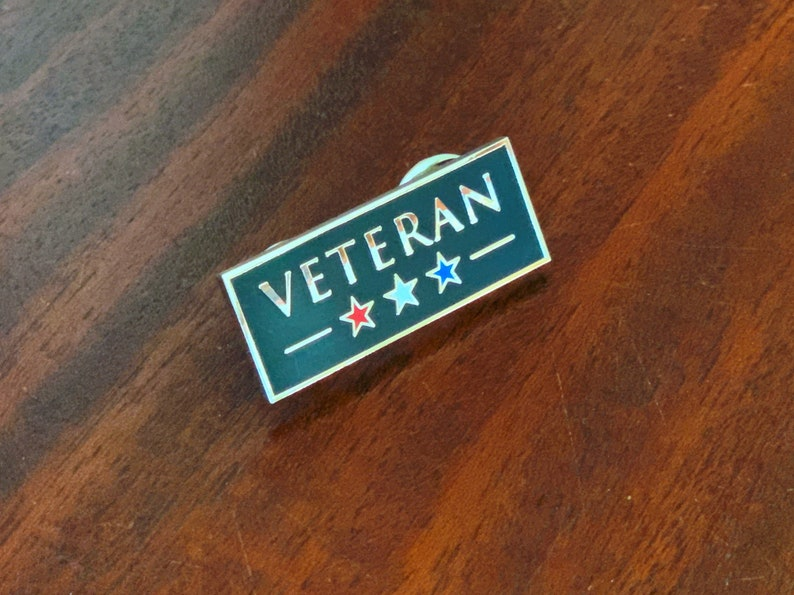 Veteran Pin  Hard Enamel Pin  United States Veteran Pin image 0