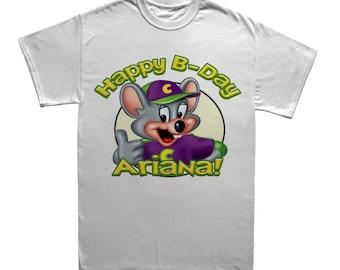 a4a6edd2 Chuck E Cheese Custom Birthday T-shirt- choose one