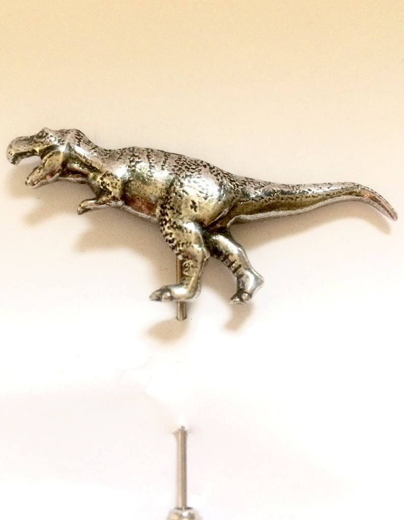 Dinosaurs T Rex Lapel Pin Cravat Pin Handmade in England from Fine English Pewter