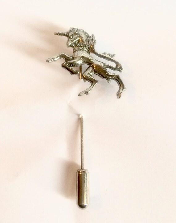 Handmade in England from Fine English Pewter Unicorn Cufflinks and Lapel Stick Pin Gift Set Gift Boxed
