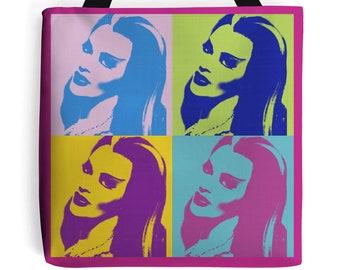 Lily Munster Fushia Bag Tote pin up psychobilly bag New