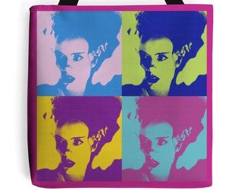 The bride of Frankenstein bag  rockabilly horror pin up bag New