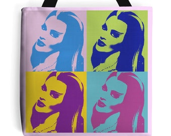 Pink Lily Munster Bag rockabilly pin up Psychobilly Tote New