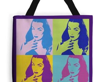 NEW! Vampira tote bag rockabilly bag pin up bag psychobilly retro free Shipping!