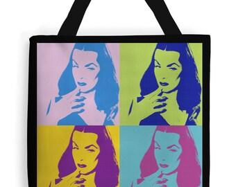 NEW! Vampira tote bag rockabilly bag pin up bag psychobilly retro