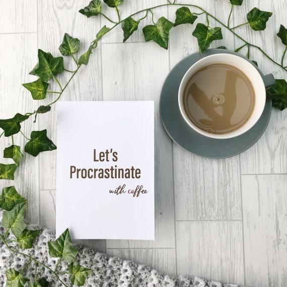 Procrastinate print, Funny Definition Print