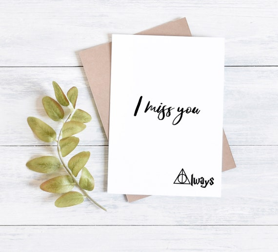 Harry Potter card, Snape, I miss you always