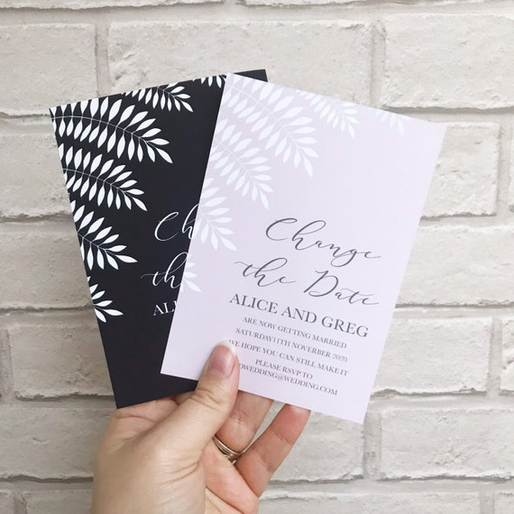 Leaf save the date, simple save the date cards